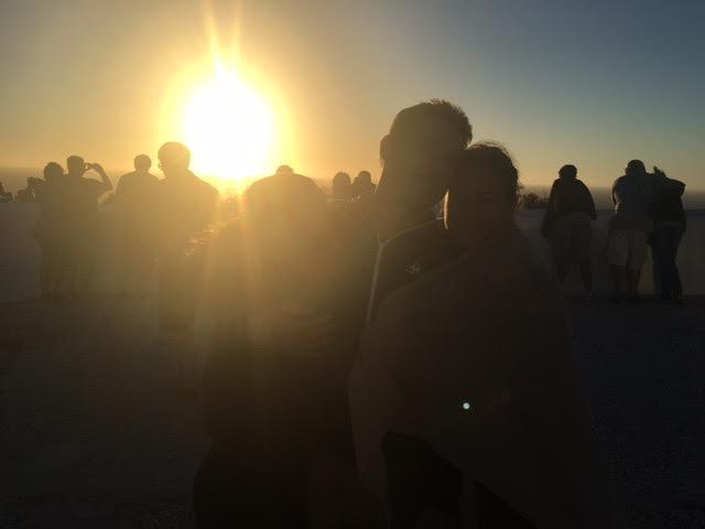 Faro puesta de sol